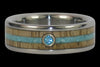Blue Diamond Titanium Ring - Hawaii Titanium Rings  - 2