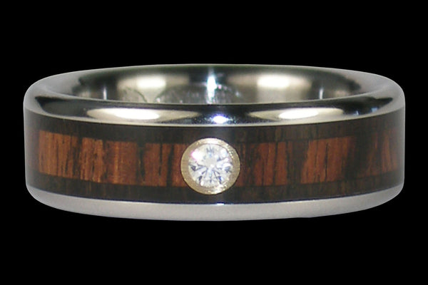 Diamond Kingwood Titanium Rings