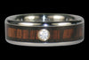 Diamond Wood Titanium Rings - Hawaii Titanium Rings