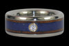 Koa and Blue Lapis Diamond Titanium Ring - Hawaii Titanium Rings  - 2