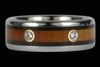 Double Diamond Titanium Wedding Ring - Hawaii Titanium Rings