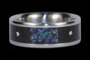 Black Opal Titanium Diamond Ring - Hawaii Titanium Rings  - 3