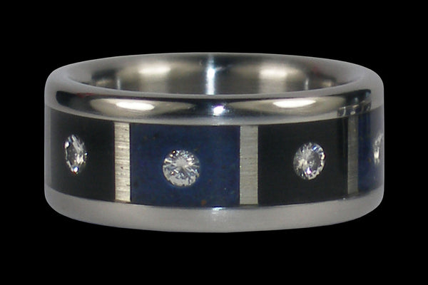 Crazy Eights Diamond Titanium Wedding Ring