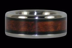 Amboyna & Blackwood Inlay Titanium Ring | Inlay Titanium Wood Rings