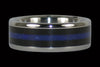 Blackwood and Blue Lapis Titanium Ring - Hawaii Titanium Rings  - 1