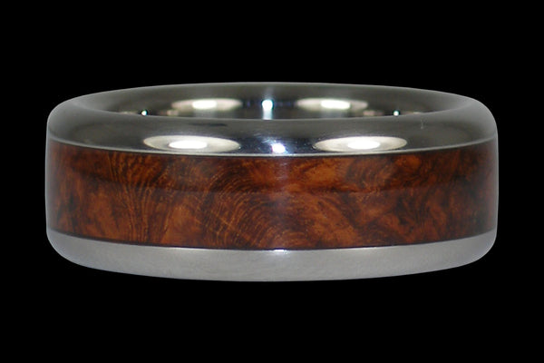 Amboina Wood Titanium Ring Band