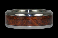 Titanium Rings with Amboina Wood Inlay | Titanium Wedding Bands
