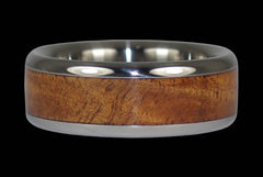 Tiger Koa Wood Titanium Ring - Hawaii Titanium Rings  - 1