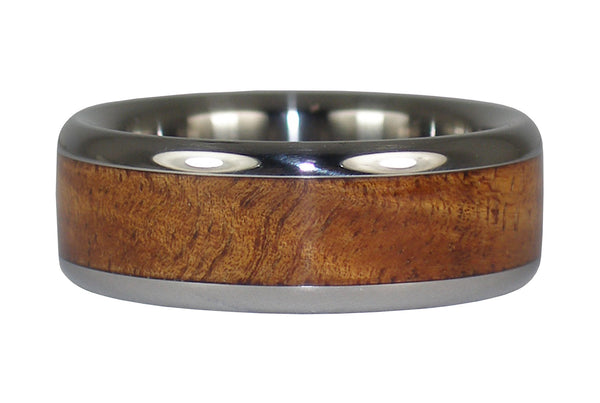 Tiger Koa Wood Hawaii Titanium Ring®