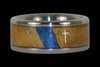 Christian Titanium Ring with Gold Cross and Star - Hawaii Titanium Rings  - 1