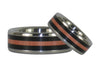 Black and Pink Wood Titanium Rings - Hawaii Titanium Rings  - 2