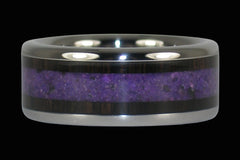 Black Wood Purple Sugilte Ring - Hawaii Titanium Rings  - 1