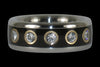 Titanium Black Wood Ring with Twelve Diamonds - Hawaii Titanium Rings