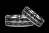 Black Carbon Fiber Titanium Ring Bands - Hawaii Titanium Rings  - 1