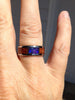 Australian Opal and Koa Wood Titanium Ring - Hawaii Titanium Rings  - 6