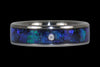 Black Opal Titanium Ring Band - Hawaii Titanium Rings  - 4