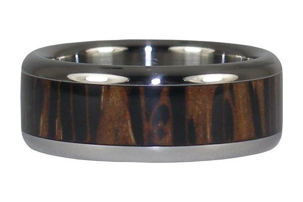 Black Palm Wood Hawaii Titanium Ring®