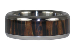 Palm Wood Titanium Ring - Hawaii Titanium Rings - 3