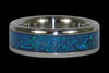 Blue Fire and Ice Titanium Ring - Hawaii Titanium Rings  - 3