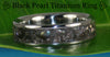 Black Pearl Titanium Ring - Hawaii Titanium Rings  - 4
