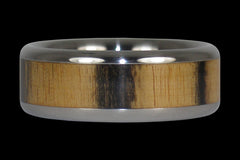 Black and White Ebony Titanium Ring - Hawaii Titanium Rings  - 1