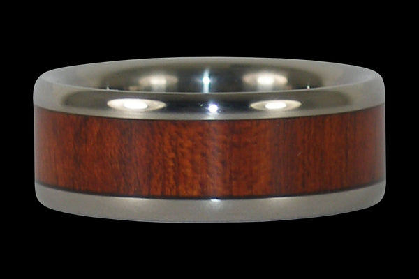 Bloodwood Titanium Ring Band