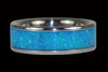 Blue Azure Opal Titanium Rings - Hawaii Titanium Rings  - 1