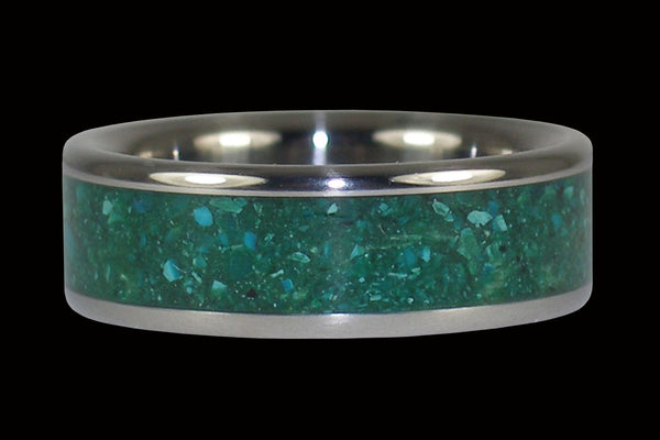 Blue Chrysacolla Titanium Ring