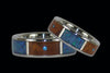 Australian Opal and Blue Diamond Titanium Ring - Hawaii Titanium Rings  - 2