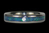 Opal and Koa Titanium Wedding Rings - Hawaii Titanium Rings  - 2
