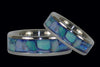 Blue Australian Opal Titanium Ring - Hawaii Titanium Rings  - 2