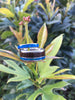Blue Opal and Hawaiian Koa Hawaii Titanium Ring®