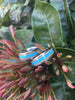 Blue Turquoise and Mango Hawaii Titanium Ring®