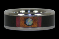 Opal Cabochon Titanium Ring - Hawaii Titanium Rings