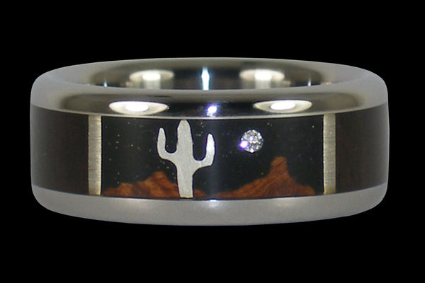 Desert Night Titanium Ring