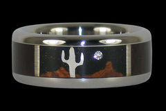 Desert Night Titanium Ring - Hawaii Titanium Rings