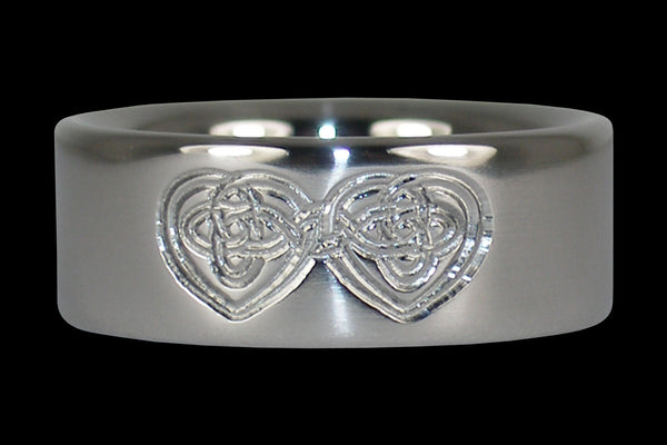 Celtic Heart Engraved Titanium Ring
