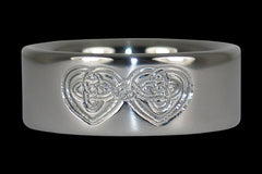 Celtic Heart Engraved Titanium Ring - Hawaii Titanium Rings  - 1
