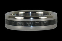 Black Carbon Fiber Ring with Narrow Inlay - Hawaii Titanium Rings