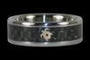 Black Carbon Fiber Turtle Titanium Ring - Hawaii Titanium Rings  - 1