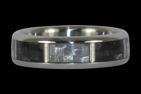 Black and White Carbon Fiber Titanium Ring