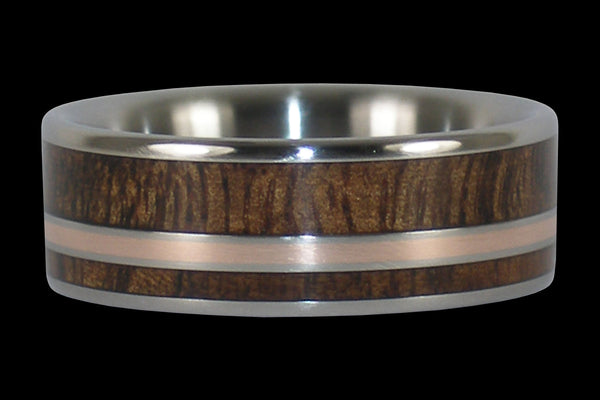Dark Tiger Wood Titanium Ring