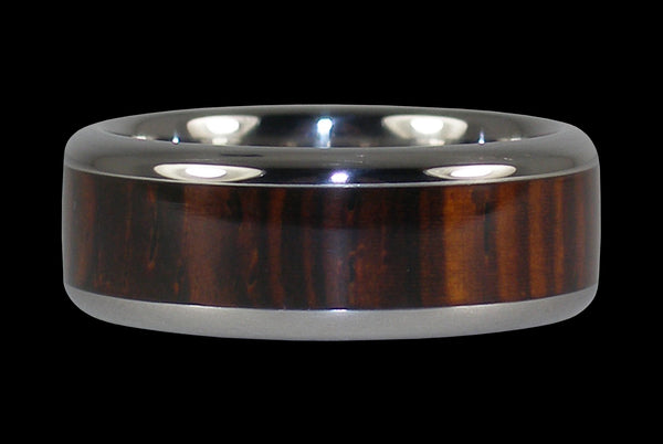 Cocobolo Titanium Wood Inlay Ring
