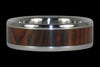 Cocobolo Titanium Wood Inlay Ring - Hawaii Titanium Rings  - 2