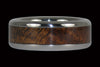 Titanium Ring with Hawaiian Curly Koa Wood - Hawaii Titanium Rings  - 3