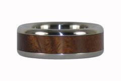 Titanium Curly Koa Wood Ring