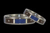 Blue Lapis and Diamond Titanium Ring - Hawaii Titanium Rings  - 2