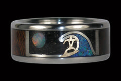 Surf Is Up Titanium Ring - Hawaii Titanium Rings  - 1