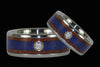 Ambiona and Lapis Titanium Diamond Ring - Hawaii Titanium Rings  - 2