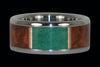 Malachite and Amboina Titanium Ring Band - Hawaii Titanium Rings